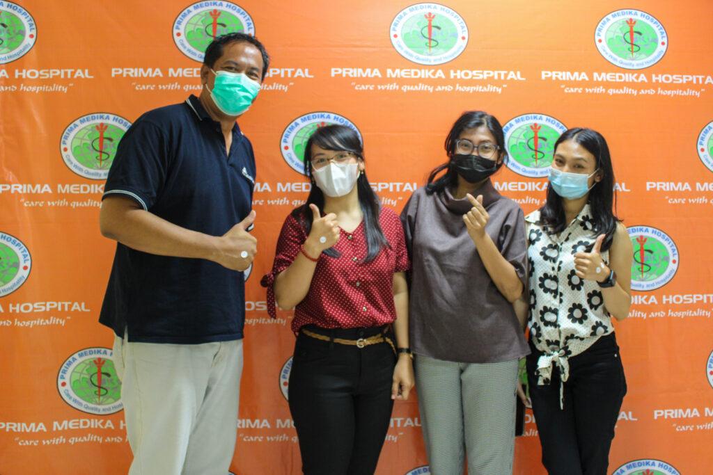 フジアアカデミーバリの先生・スタッフの皆さんがワクチン接種を受けました