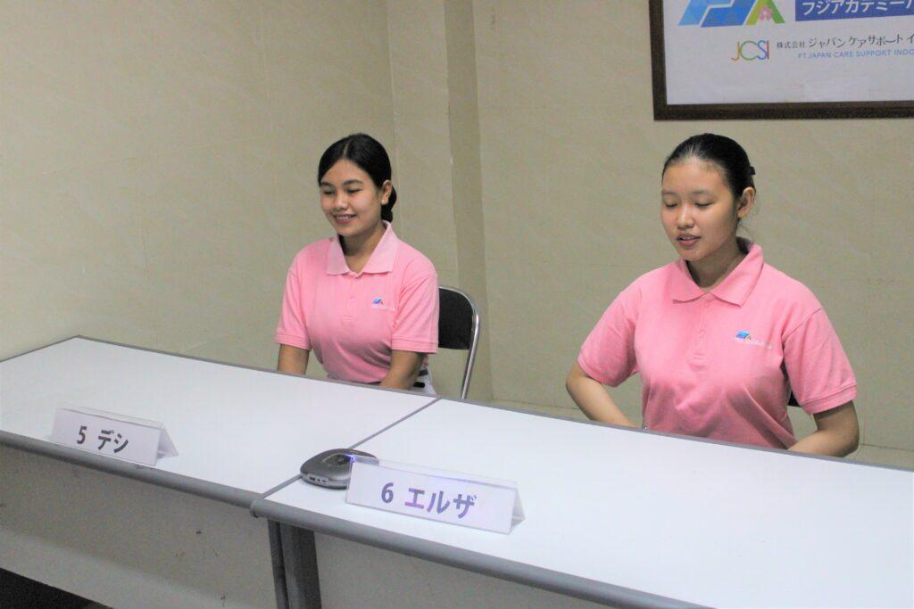 第3期生介護技能実習生の採用面接(広島県の病院)